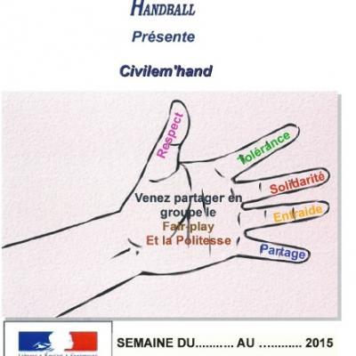 Affiche civilem hand