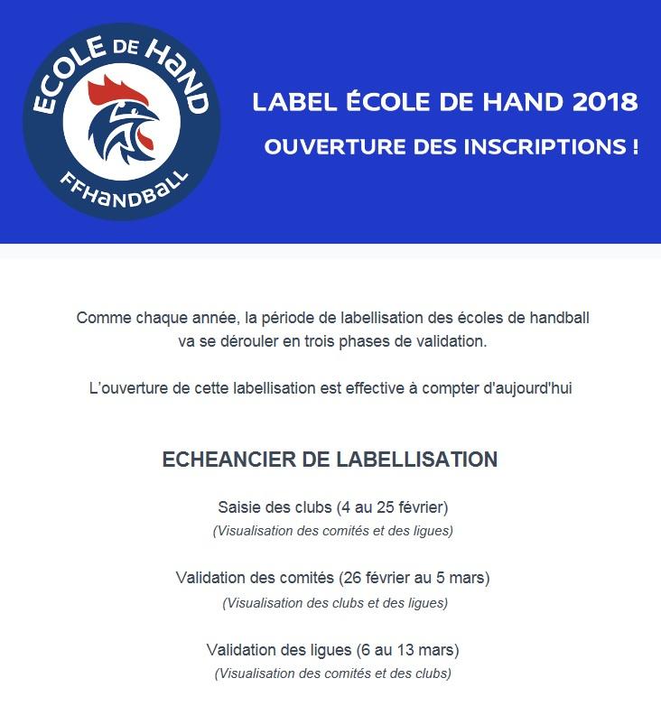 Label ecole hb 2018